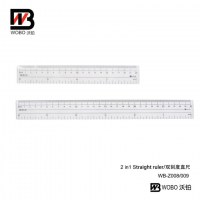 2 IN 1 straight ruler