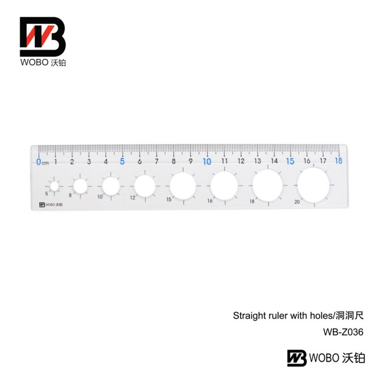 straight ruler with holes