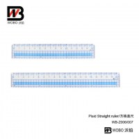 Plaid straight ruler