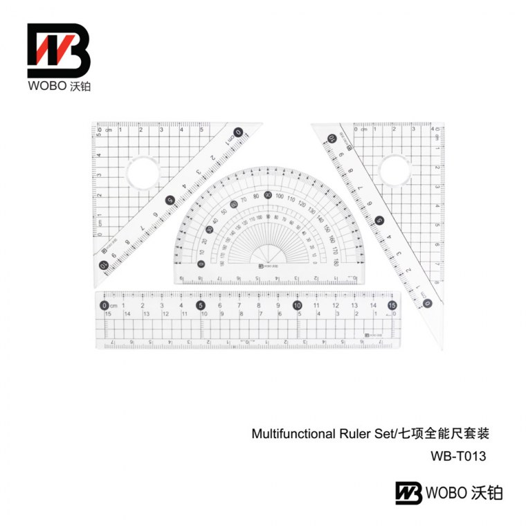 Multifunctional ruler set