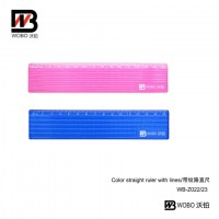color straight ruler with lines