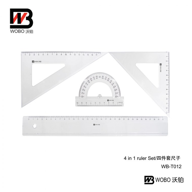 4 IN 1 ruler set