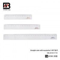 color straight ruler with mustache